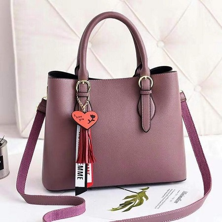 Fashion Purple Ladies Handbag