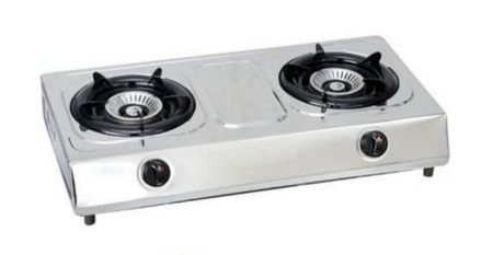 2 Burner Gas Stove-Stainless Steel (Silver)