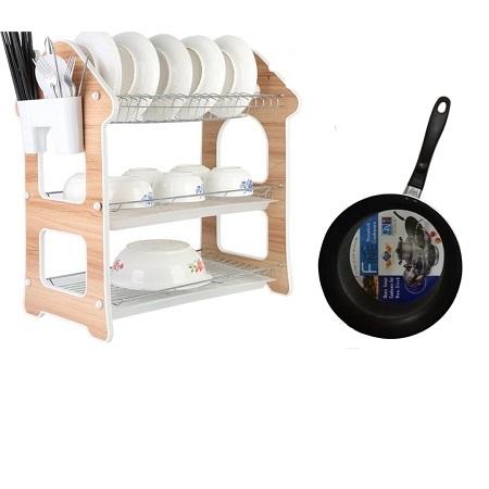 3 Layers Nunix Dish Rack Plus Cooking Pan