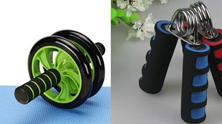 AB Double Wheels Roller with Free Skipping Ropes