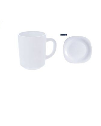 Dinner Plates 6 Pieces + 6 Pcs Of Cups - White