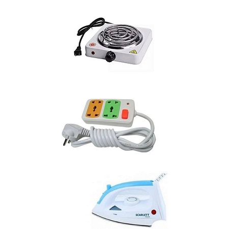 Electric Hot Plate, Scarlett Iron Box, Free Two Way Extension Cable