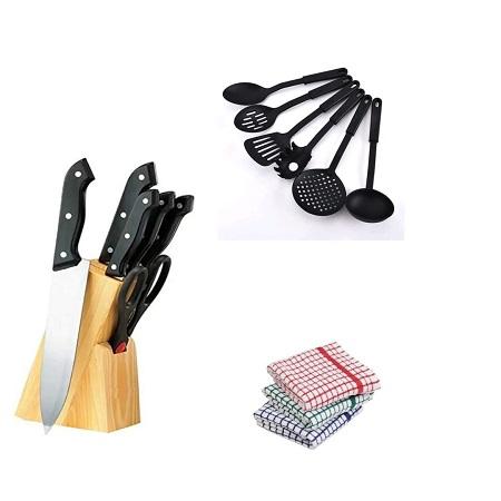 Kitchen Knife Set, Non Stick Kitchen Spoons, Kitchen Towels