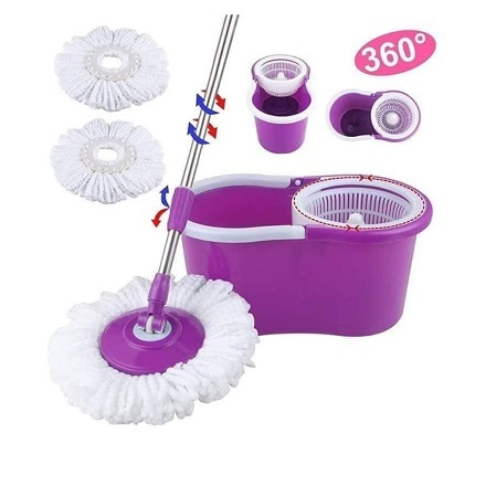 Magic Spin Mop- 360 Degrees, (Product Color May From The Image)