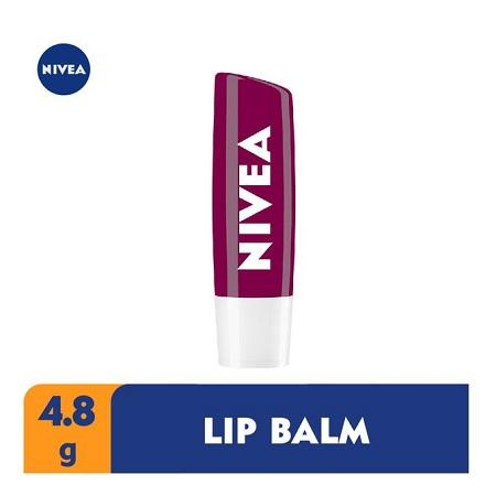 Nivea Blackberry Shine Lip Balm For Women - 4.8g