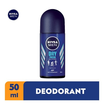 Nivea Men Dry Fresh Anti-Perspirant Rollon For Men, 48h - 50ml