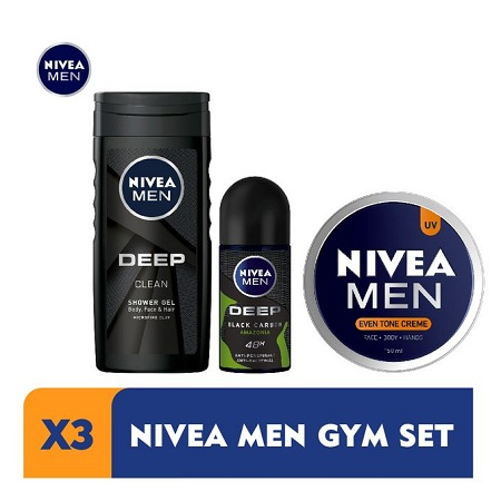 Nivea Men Home Workout Kit For Men - With Antibacterial Deodorant Rollon