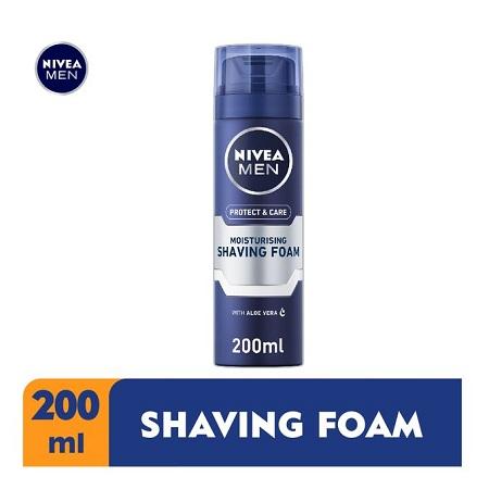 Nivea Men Protect & Care Moisturising Shaving Foam for Men - 200ml