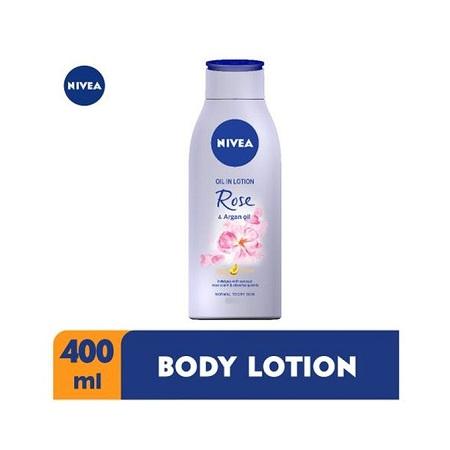 Nivea Rose & Argan Oil Body Lotion For Women - 400ml