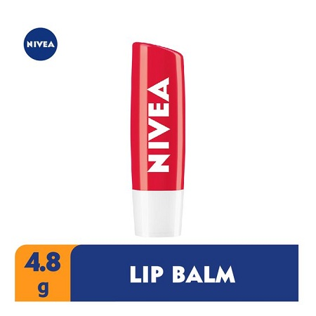 Nivea Strawberry Shine Lip Balm For Women - 4.8g