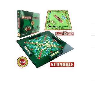 SCRABBLE + MONOPOLY 2 In 1 FAMILY PARTY BOARD (GIANT SIZE)