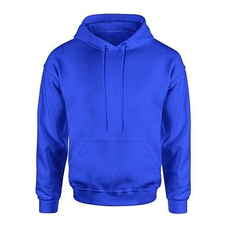Fashion Blue Plain Unisex Hoodies
