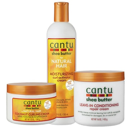 Cantu Shea Butter Leave-in, Curl Activator And Coconut Curling Cream