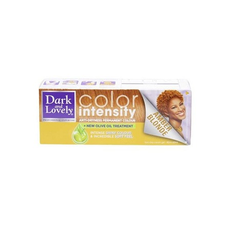 Dark & Lovely COLOR INTENSITY ANTI-DRYNESS PERMANENT COLOR - AMBER BLONDE