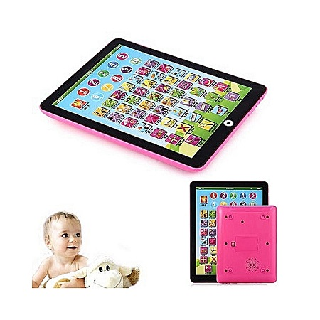 Children English Learning Pad Toy Educational Computer Tablet-Pink.