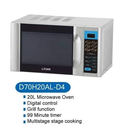 Lyons Microwave Oven Glass With Grill- 20 litres