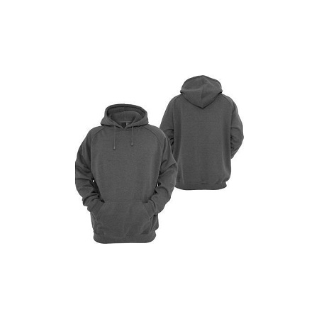 Fashion Grey Plain Unisex Hoodie