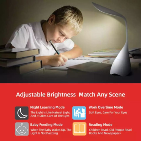 Licer Led Foldable Rechargeable Desk Lamp 3 Modes