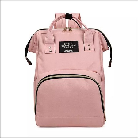 Pink fancy large capacity mummy diaper bag backpack