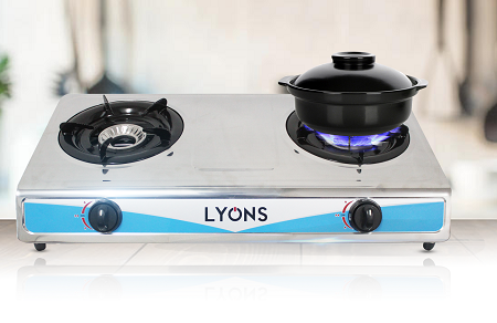 Lyons GS-002 Stainless Steel 2 Burner Gas stove