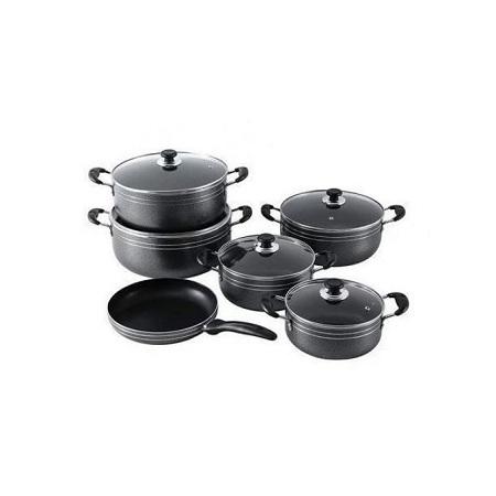 11 Pcs Non Stick Cookware- Set-Cook Pot