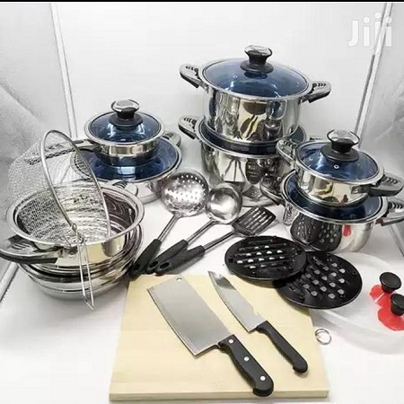 30 PCS Stainless Steel Cookware Set - Heavy Duty