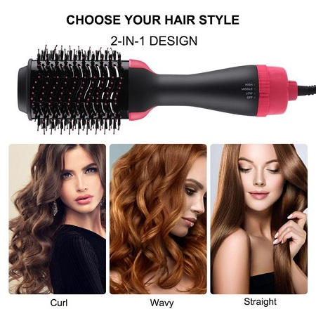 3 In 1 Electric Comb Hair Straighter Brush Hair Comb