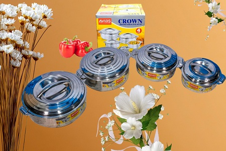 Crown Stainless Steel Insulated Hot Pots-4