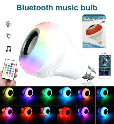 LED Music Bluetooth Bulb with USB Slot (PIN Type)