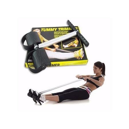 Tummy Trimmer Belly Slimming Leg Pedal Exerciser Pull Up Resistance Bands