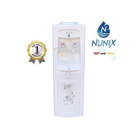 Nunix Hot And Cold Free Standing Water Dispenser-White