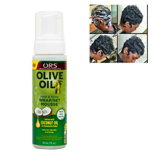 Ors Olive Oil Hold And Shine Wrap Set Mousse (coconut Oil)