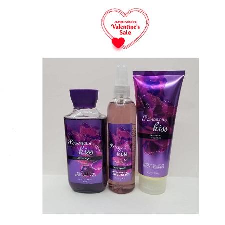 Body Luxuries Poisonus Kiss 3in1 Set (shower Gel,body Splash,body Cream)