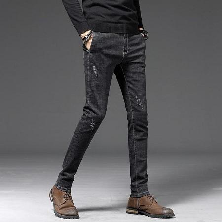 Fashion Men Soft Black Jeans Trousers