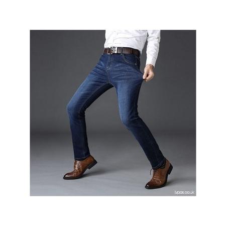 Fashion Men Soft Blue Jeans Trousers