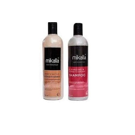 Mikalla Cleansing Shampoo + Honey & Butter Conditioner 500ml
