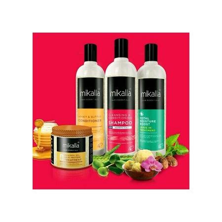 Mikalla Shampoo + Conditioner + Leave In + Quadra Protein Treatment