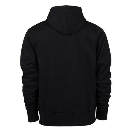 Fashion Plain Black Unisex Hoodies
