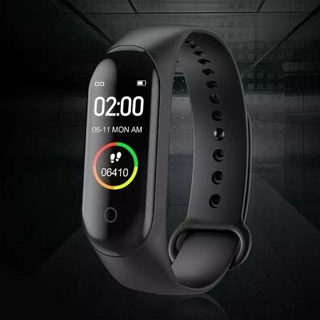 M4 Smart Fitness Band, 0.96Inch Screen, Waterproof Bracelet Black