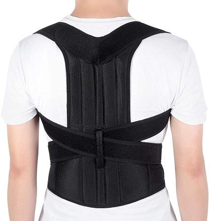 Adjustable Back Brace Posture Corrector Back Shoulder Lumbar Waist Straightener Support Belt for Men and Women