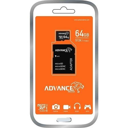 Advance 64gb mem card plus card holder