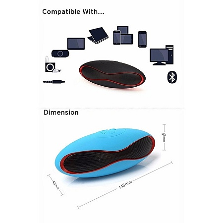 Bluetooth Speakers Mini Rugby Style Bluetooth Speaker Multifunction TF, USB, FM, Bluetooth Computer Audio