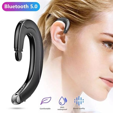 Wireless Bluetooth 5.0 Earphones Bone Conduction Earpiece Earbuds Stereo Headset