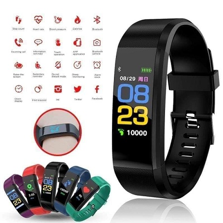 Fitness Tracker, Heart Rate Monitor Activity Tracker with Connected GPS Tracker, Step Counter, Sleep Monitor, Waterproof Pedometer