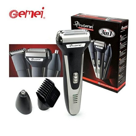 Gemei GM-598 3×1 Rechargeable Multi Function Shaver