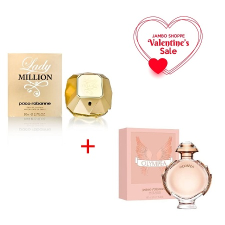 Lady Million by Paco Rabanne 80ml + Olympéa by Paco Rabanne 80ml