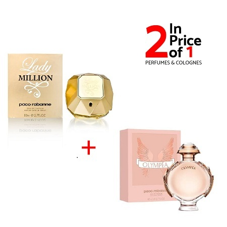 Lady Million By Paco Rabanne 80ml + Olympea By Paco Rabanne 80ml