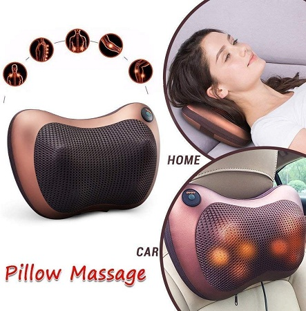 Massage Pillow, Relax Neck/Back/Shoulder Pillow Suitable for Home and Car or Office