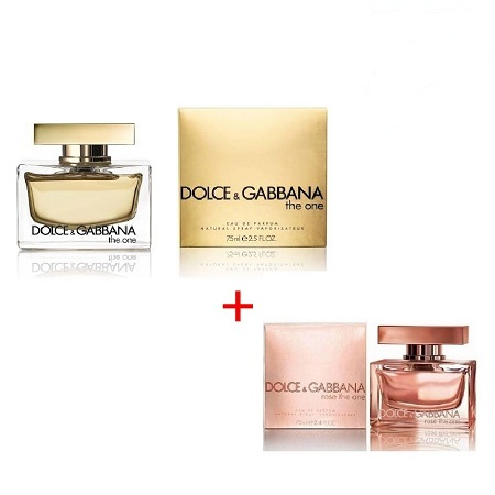 Rose the one by dolce and Gabanna 75ml + The One by Dolce&Gabbana 75ml