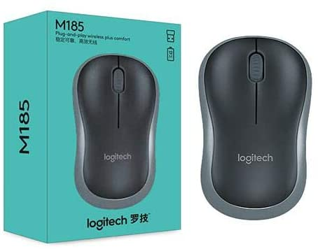 LOGITECH M185 Wireless Mouse - Plug And Play - Black